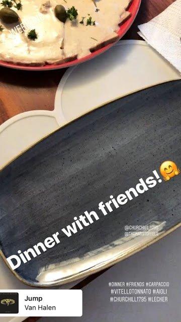 Gustav Instagram Story le 21.09.2018 - Diner avec des amis! 🤗
