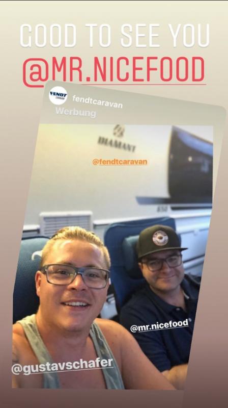 Gustav Instagram Story le 20.07.2019