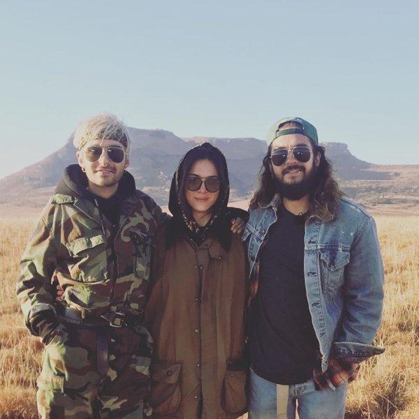 BillKaulitz TomKaulitz avec Giannina Erfany-Far (actrice allemande) en Afrique du Sud 20.07.2019