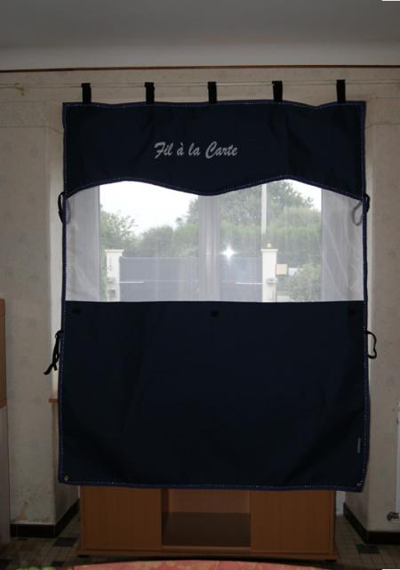 Nouvelle tenture de box avec moustiquaire