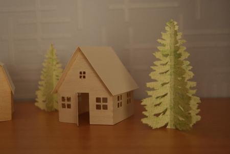 Hangar et maison en papier à la Caméo