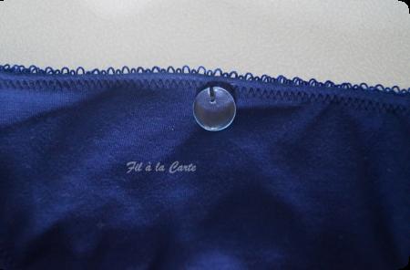 Ensemble sous vêtement bleu marine