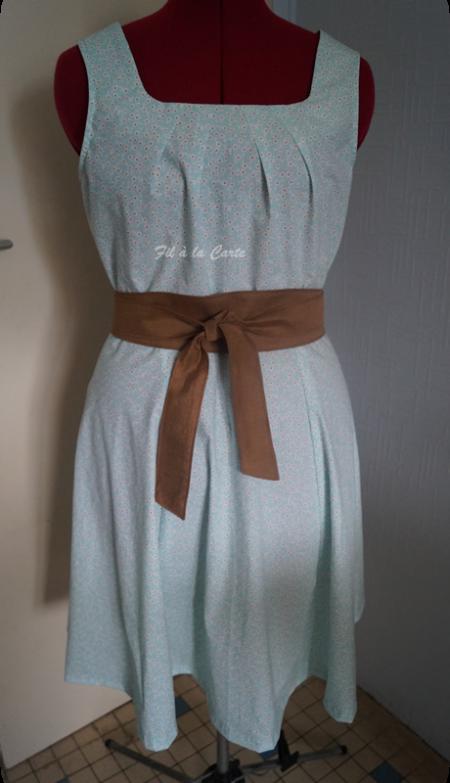 Robe à fleur femme avec ceinture
