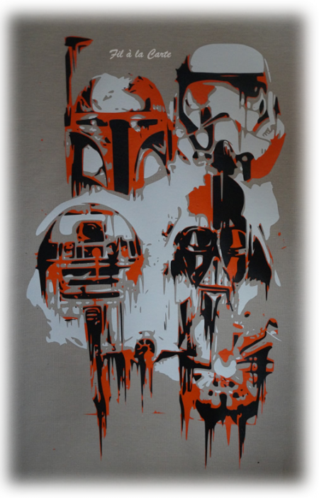 Tee shirt Star Wars graffiti 8 ans