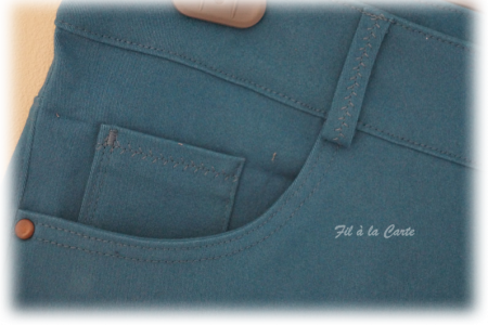 Jean turquoise femme