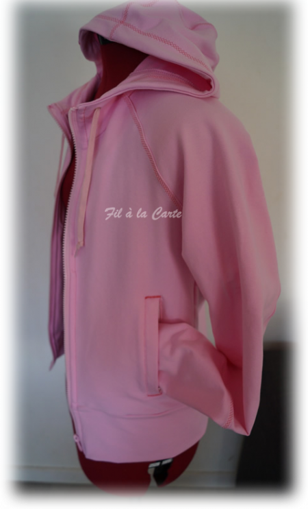Sweat Licorne folle rose