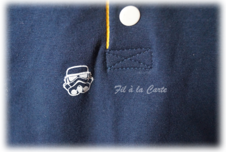 Polo bicolore Star Wars 9 ans