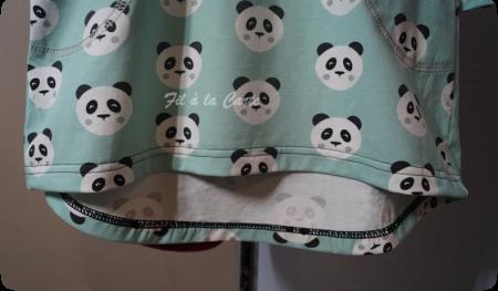 Tunique et legging pandas 5 ans