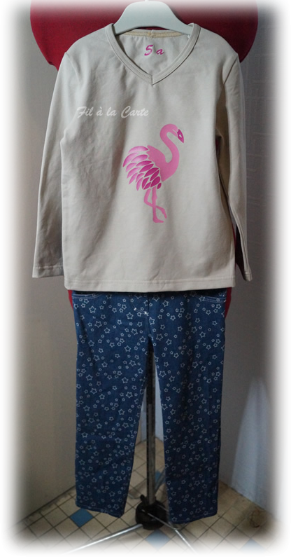 Tee shirt flamand rose 5 ans