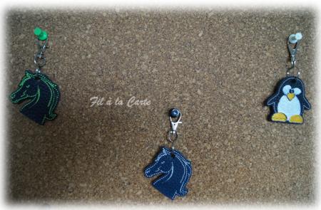 Porte clés cuir