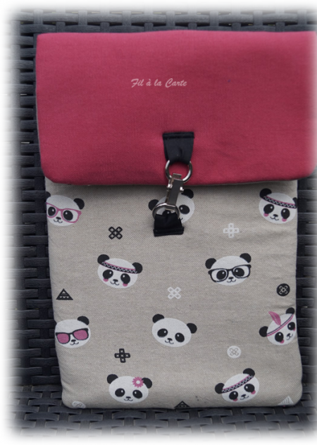 Housse ardoise panda