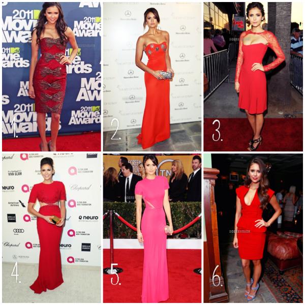 Qu'elle robe rouge va mieux à Nina ? Perso je les adores toutes mais j'ai une préférence pour la 2ème ^^