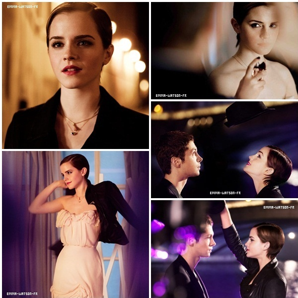 Photoshoot de Emma pour la campagne du parfum Trésor Midnight de Lancôme Elle est très belle !