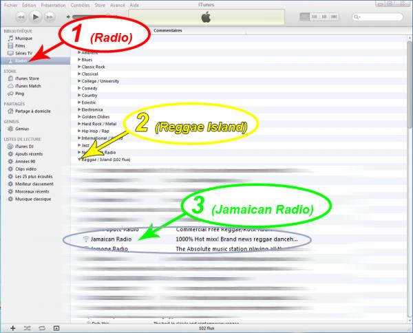 Ecoute la radio depuis iTunes!
