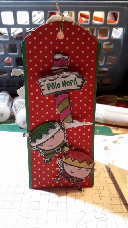 pour la table de noel porte nom avec un petit chocolat