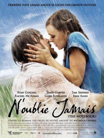 """Moment émotion avec """"N'oublie jamais"""" (Notebook) tiré du roman de Nicholas Sparks"""