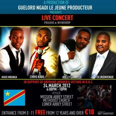 LIVE CONCERT A DUBLIN LE 24 MARCH 2012
