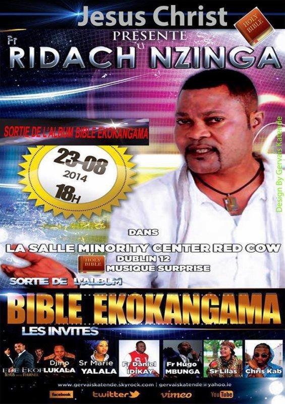 La sortie officiel de l'album Bible Ekokangama de Fr Ridach Nzinga