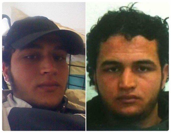 """Ce Tunisien """" Anis Amri """" TERRORISTE en Allemagne est activement recherché. Si vous le voyez appelez immédiatement la police....Une prime de 100 000¤ pour celui ou celle qui aidera à son arrestation."""