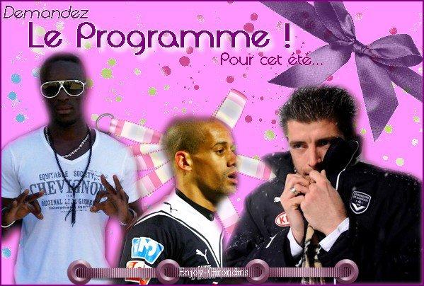 ~ Le Programme de la Reprise ~