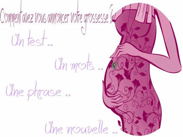 Bebe-bou Présente article n°2  : L'annonce de la Grossesse