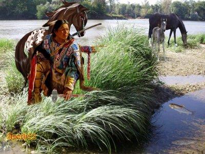 ( l'indien bord de la rivière