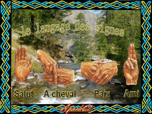# le langages des signe ,#