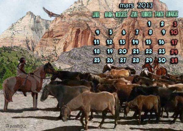 calendrier-mars 2013-_pour vous mes amis(es)