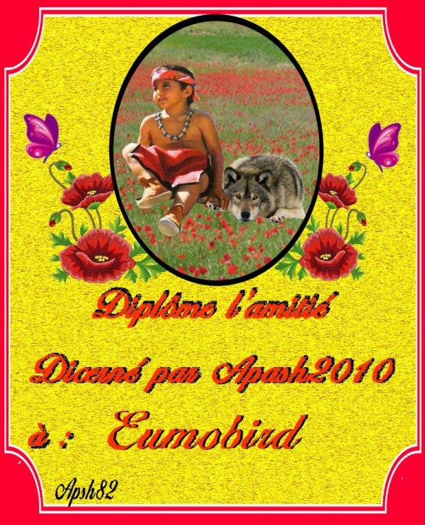 la carte de l'amitié pou mon ami   Eumobird