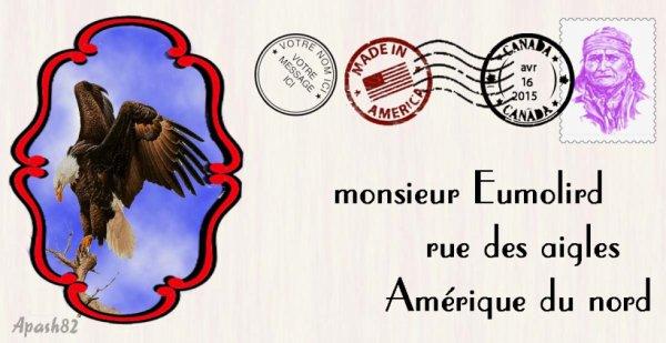 enveloppe  pour mon ami  monsieur Eumolird