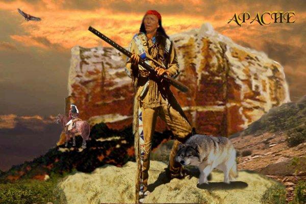 Apache, le nom d'une tribu amérindienne.