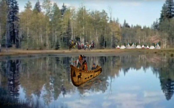 Amérindienne la vue sur le lac