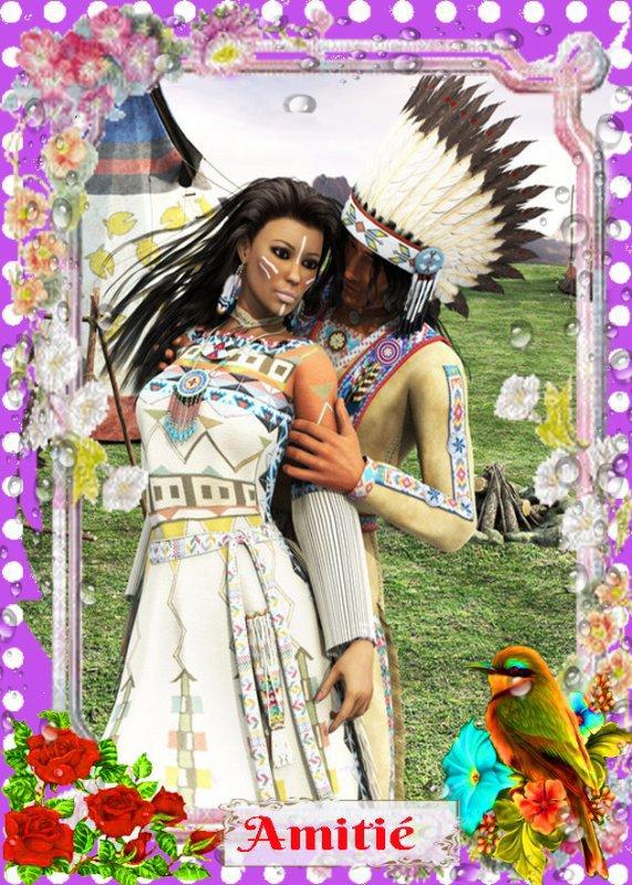 Amérindienne couple d' os-sage  ¤ (Amitié) ¤