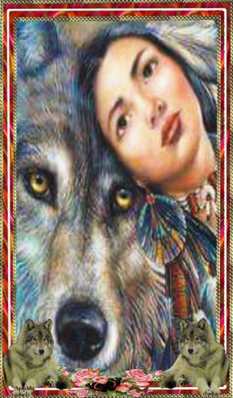 cadre de la reine des loups
