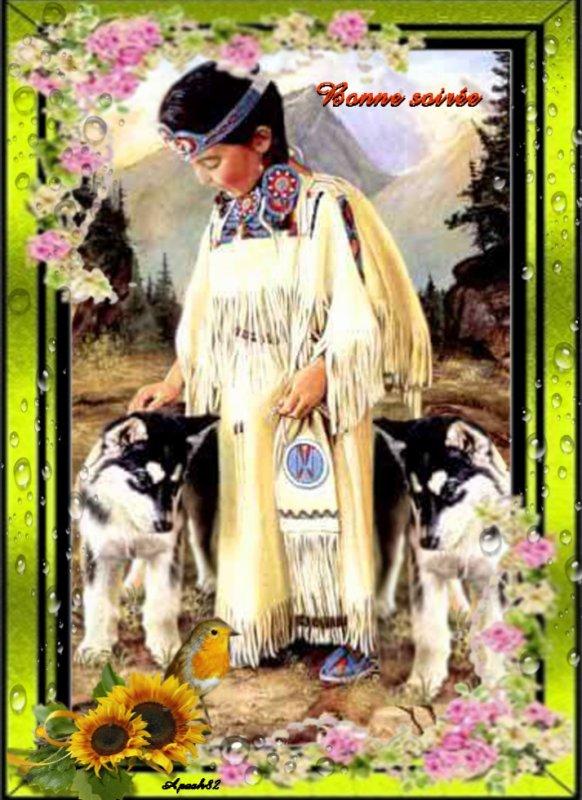 Amérindienne bonne soirée à tous