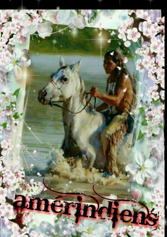 Amérindienne  un cadeau  de mes création