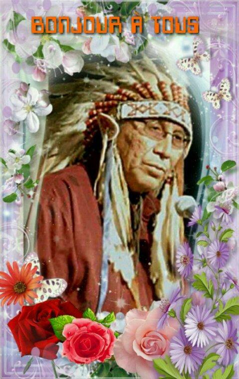Amérindienne • bonjour mes amis(es)