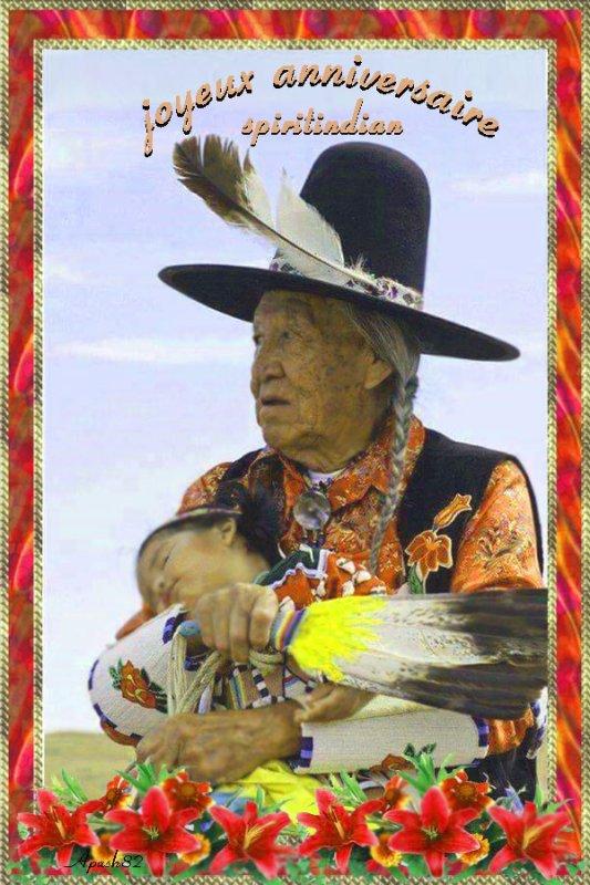 une carte  anniversaire  pour mon ami spiritindian
