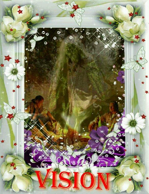 Amérindienne•~• Voila une vision au tour d'un feu