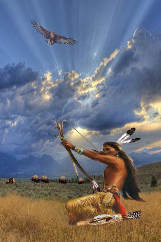 une de mes création création ( le comanche le chasseur de bisons )