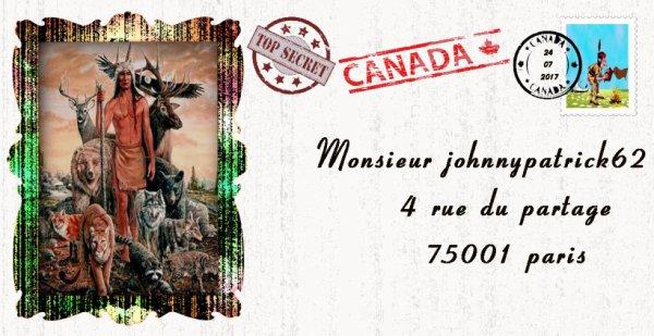 voilà une Enveloppe du canada viens d'arriver pour mon ami johnnypatrick62