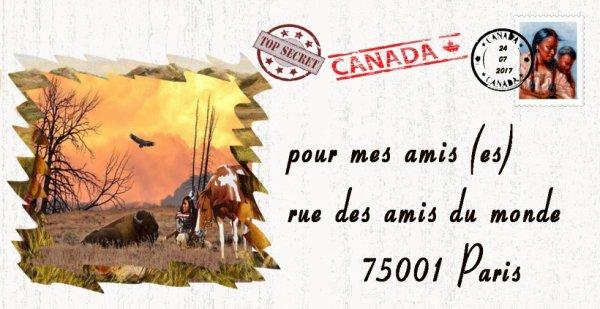 voilà une Enveloppe du canada viens d'arriver pour mes ami du monde