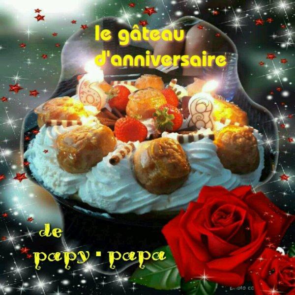 Voilà le beau gâteau  D'anniversaire de 68 ans Du 15.08.De papy ♡ papa •Cher mon Mikael•♡♡♡
