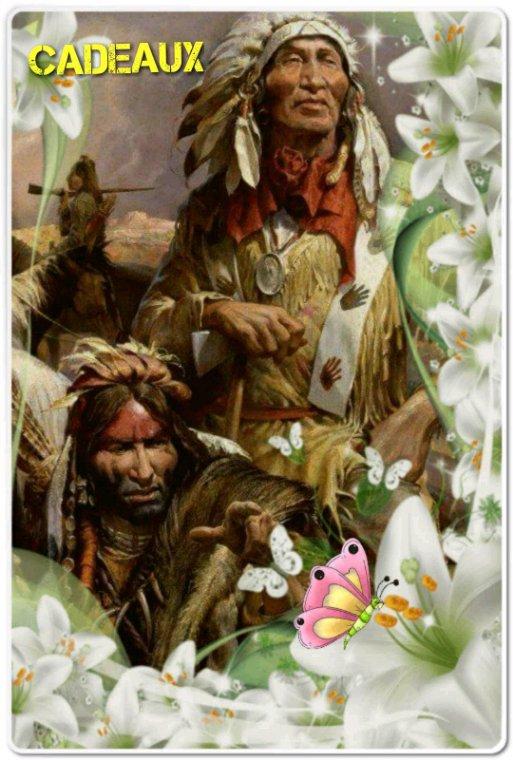 Amérindienne un cadeau pour remercier de vos  visite à  tous