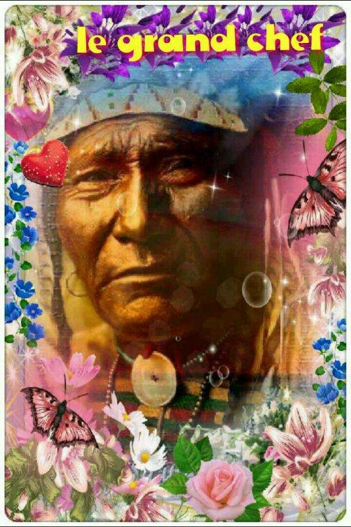 Amérindiens le grand chef sioux