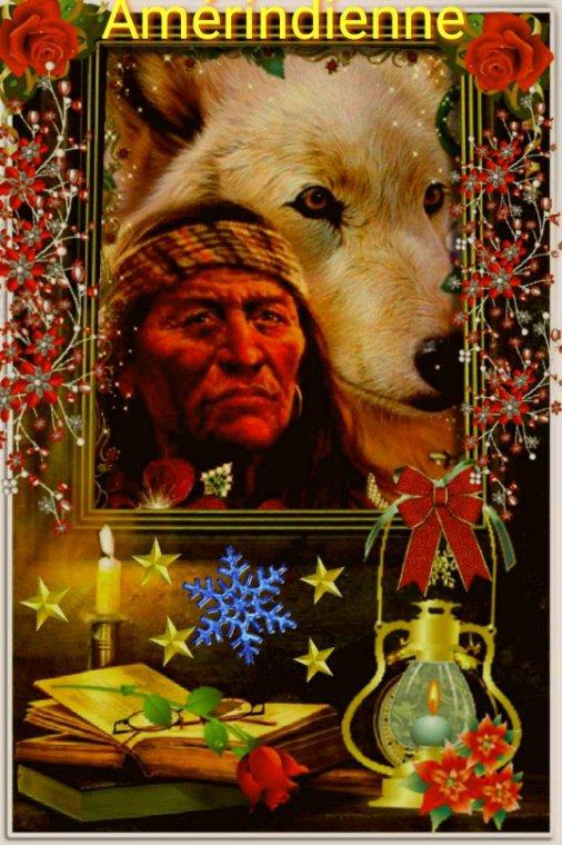 Amérindienne une création pour les indiens pour fêter des bonne fête