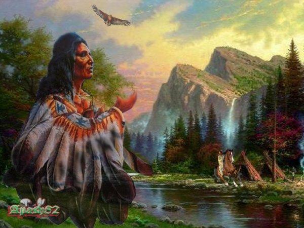 amérindienne  L'Indien d'Amérique du Nord
