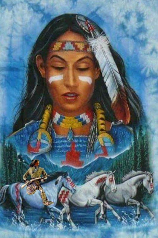 Amérindienne le gardien de che chevaux