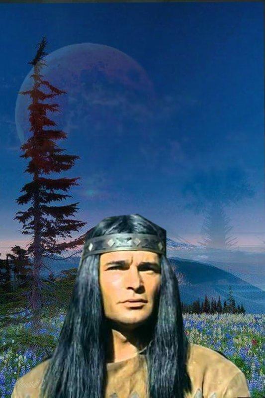 Amérindienne  l' Apache  ( bon Dimanche ).