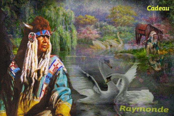 Amérindienne  une carte pour mon amie Raymonde